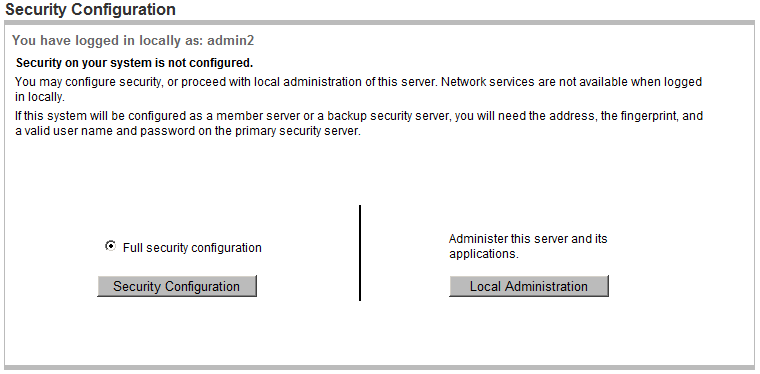 CS1000E Rls  7 5 Installation - Configure the primary security server