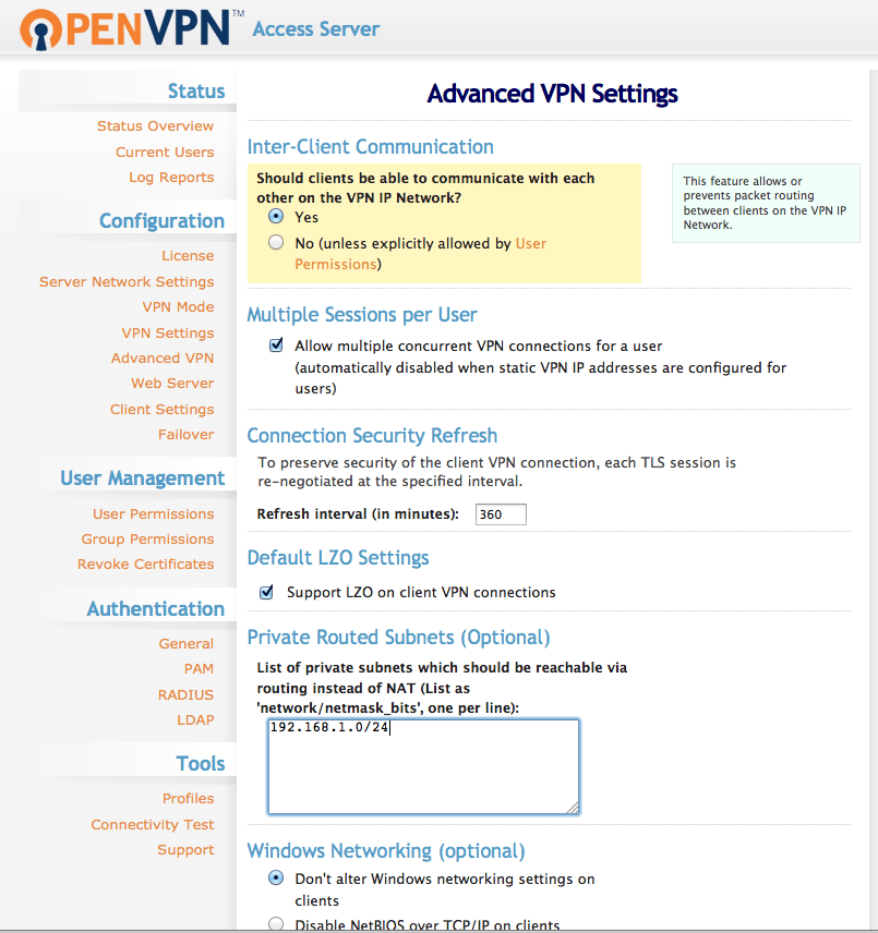 Asterisk PBX with OpenVPN