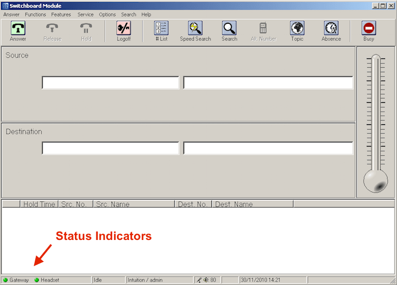 Intuition Gateway Status