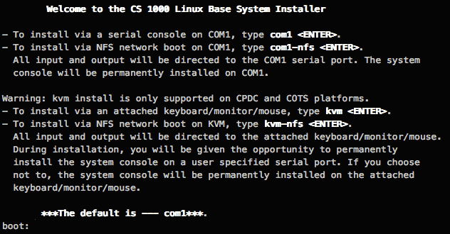 CS1000 Linux Base System Installer