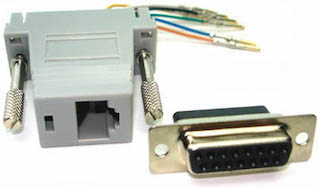 connecting e1 t1 s rj45 to db 15f t1 adapter