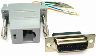 rj45 to db-15f (t1) adapter: