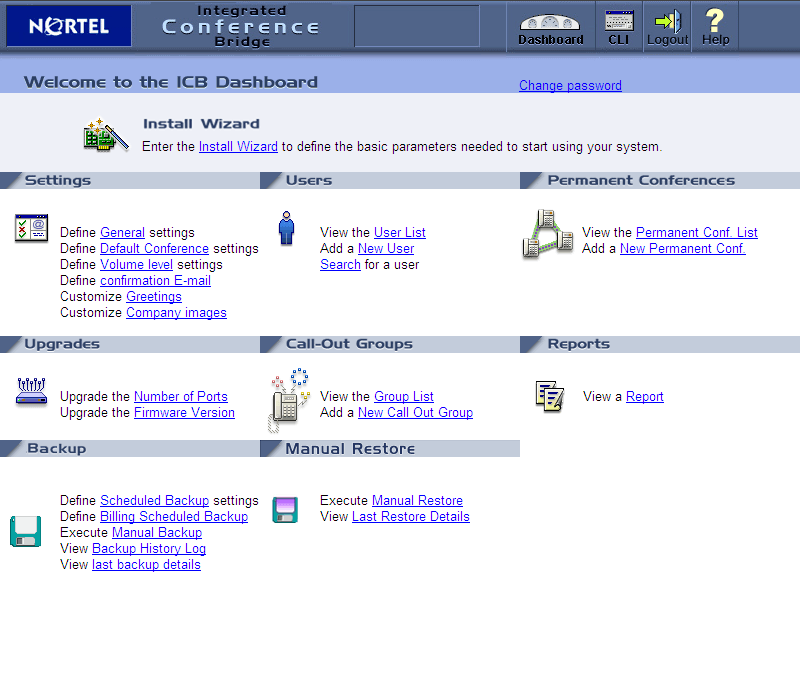 Avaya/Nortel Integrated Conference Bridge (ICB)