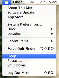 Lock or Sleep a Mac