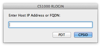 RLOGIN to a CS1K (Mac)